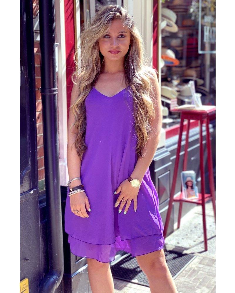 Short Summer Dress - Purple