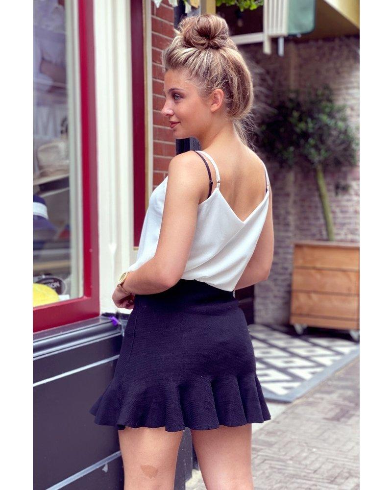 Short Ruffle Skirt - Black