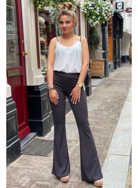 Basic Flared Pants - Antracite