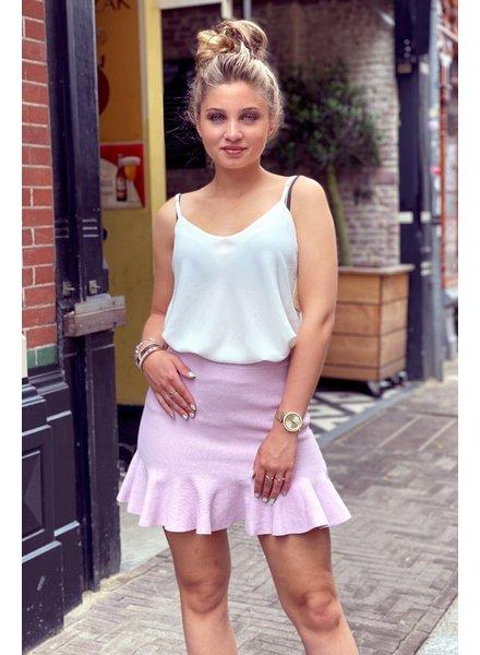 Short Ruffle Skirt - Lilac