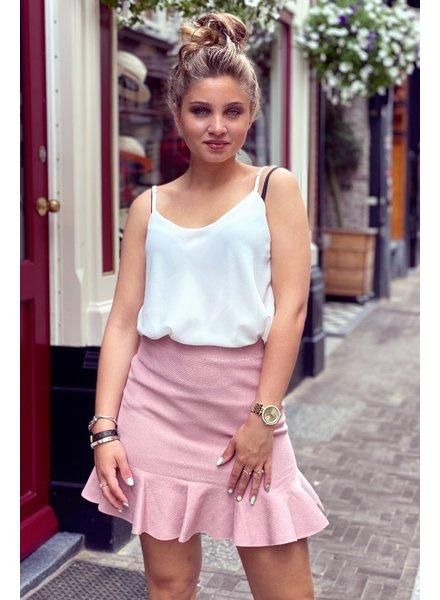 Short Ruffle Skirt - Light Pink