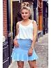 Short Ruffle Skirt - Light Blue