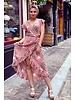 Spanish  Flower Dress - Pink / Turquoise