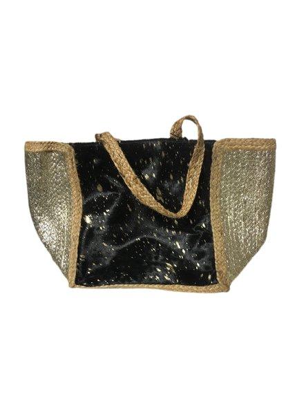 Ibiza Beach Bag - Black / Gold