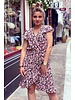 Fenne Short Little Flower Dress - Black