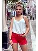 Evi Denim Short - Red