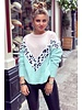 Leopard Sweater - Light Pink / Mint