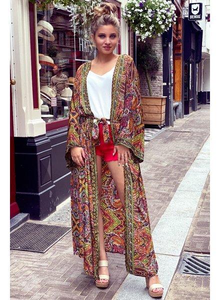 Indian Summer Kimono - Yellow / Orange / Red