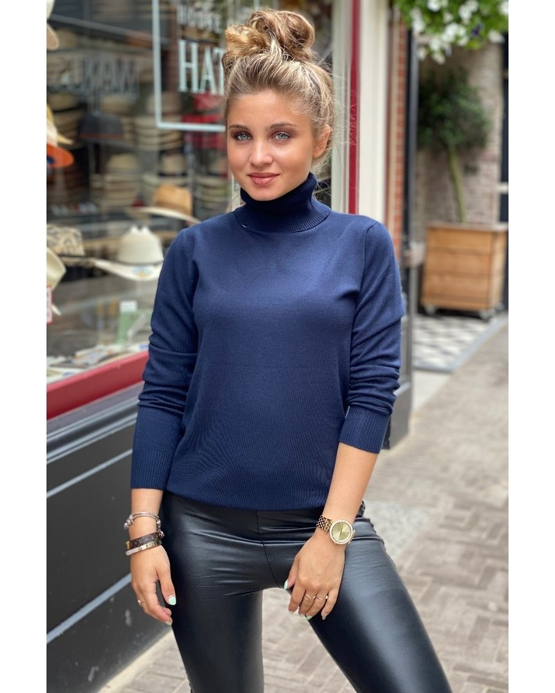 Fabulous Col Sweater - Navy