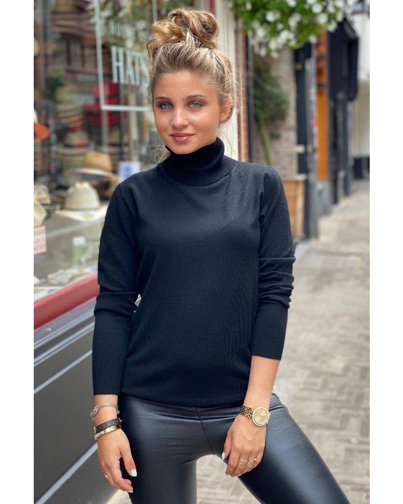 Fabulous Col Sweater - Black