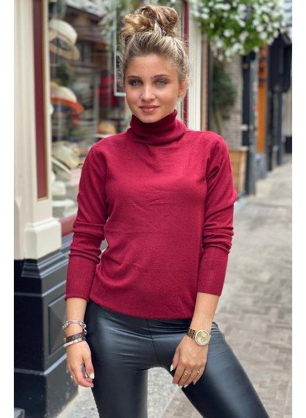 Fabulous Col Sweater - Bordeaux