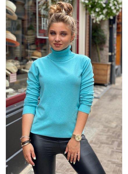 Fabulous Col Sweater - Light Blue