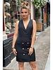 Sleeveless Blazer Dress - Black