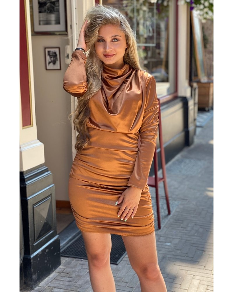 Satin Dress - Bronse