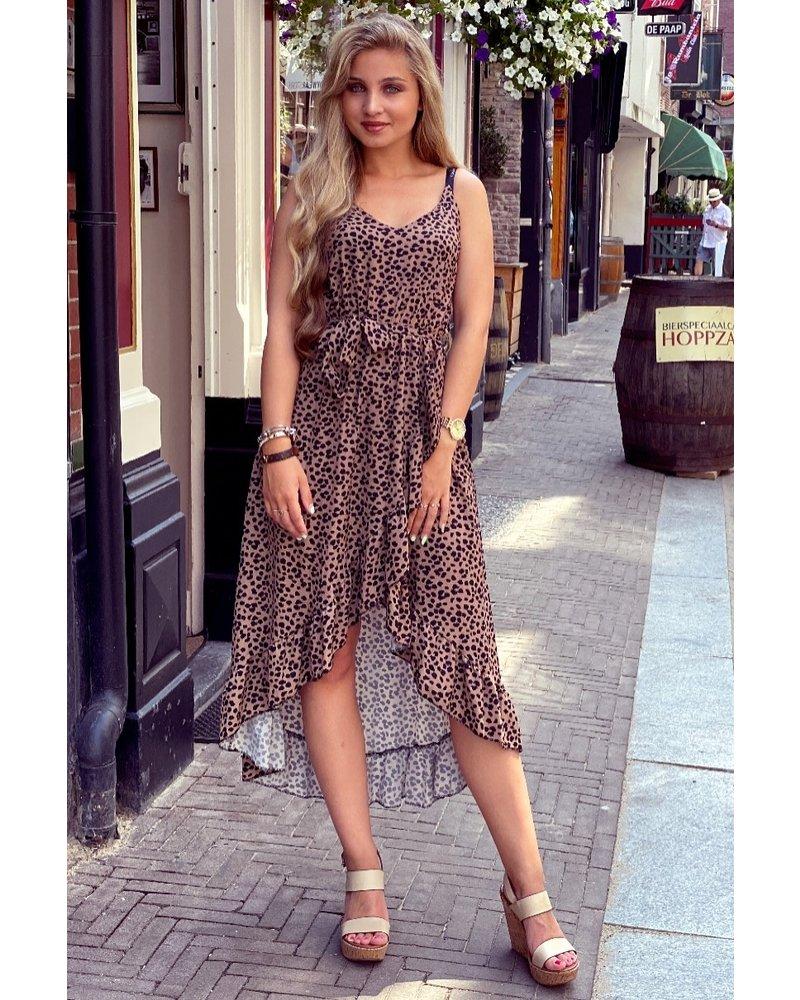 Robin Ruffle Dress - Cheetah