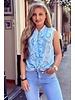 Hannah Broderie Top - Light Blue