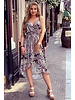 Robin Ruffle Dress - Paisley Black