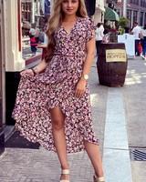 Spanish  Rose Dress - Black/Pink