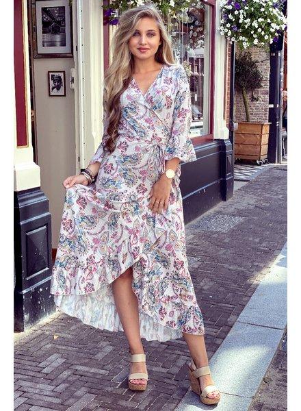 Lieke Paisley Dress - Beige
