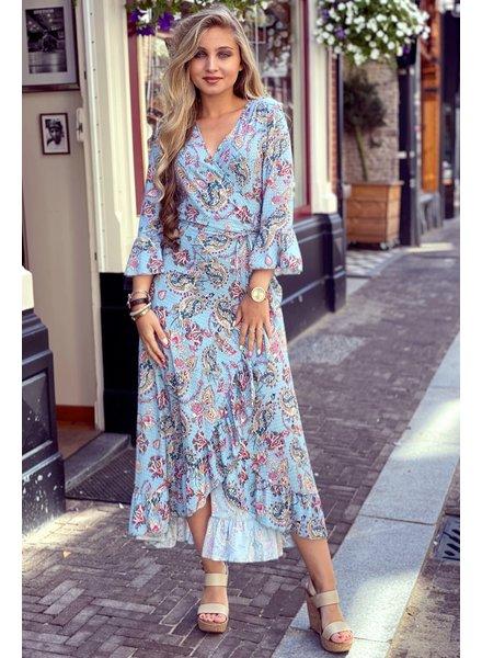 Lieke Paisley Dress - Light Blue