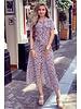 Emma Cheetah Blouse Dress - Light Pink