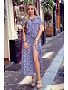 Emma Cheetah Blouse Dress - Lilac
