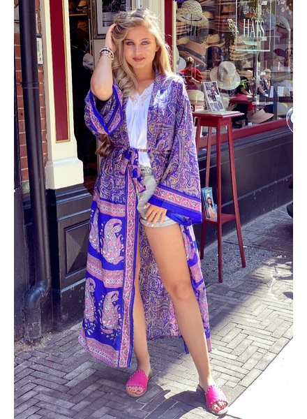 Indian Summer Kimono - Pink / Kobalt