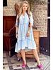 Tiara Midi Dress - Light Blue