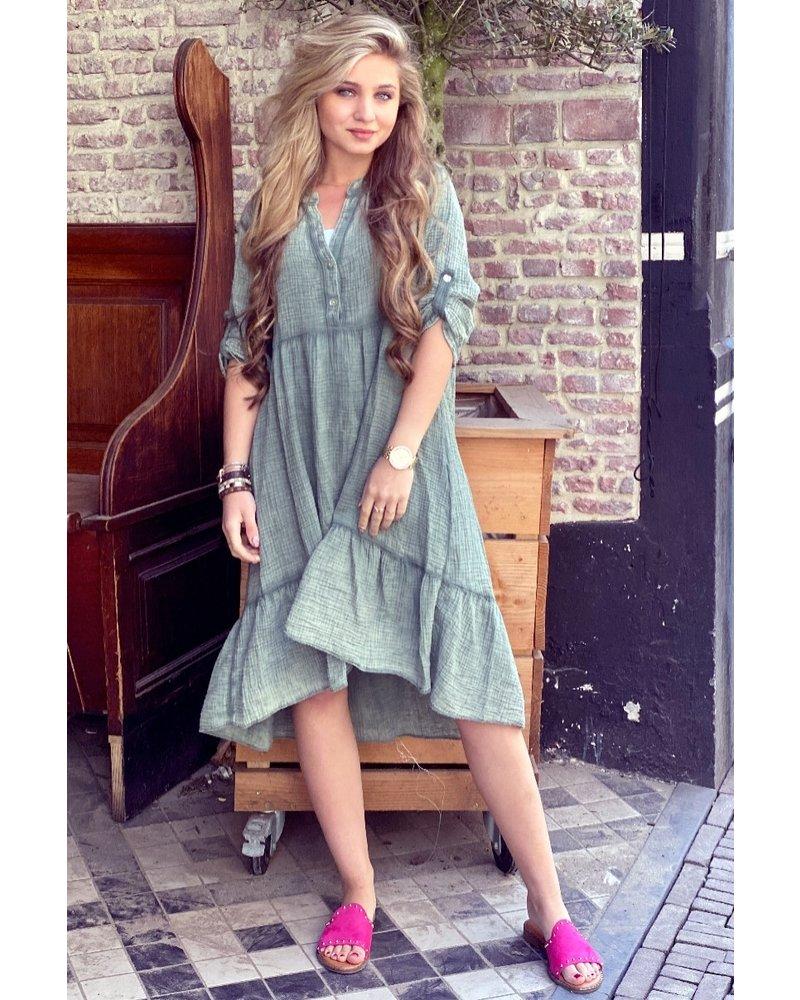 Tiara Midi Dress - Army Green
