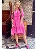 Tiara Midi Dress - Fuchsia