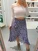 Leopard Ruffle Skirt - Lilac