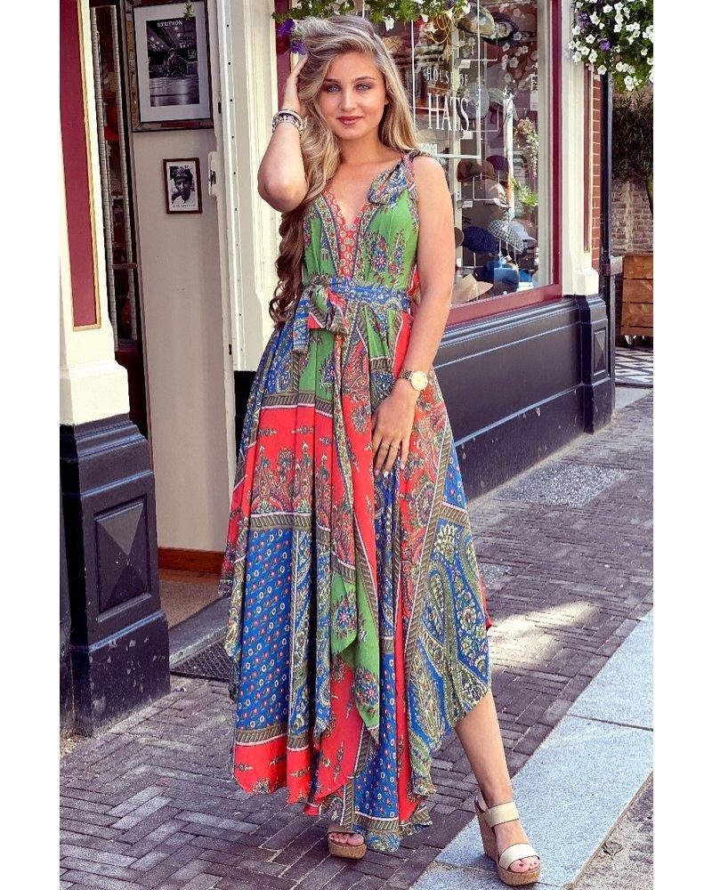 Suus Strik Dress - Red / Green / Blue