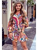 Ibiza Lilly Dress - Beige/Turquoise/Purple