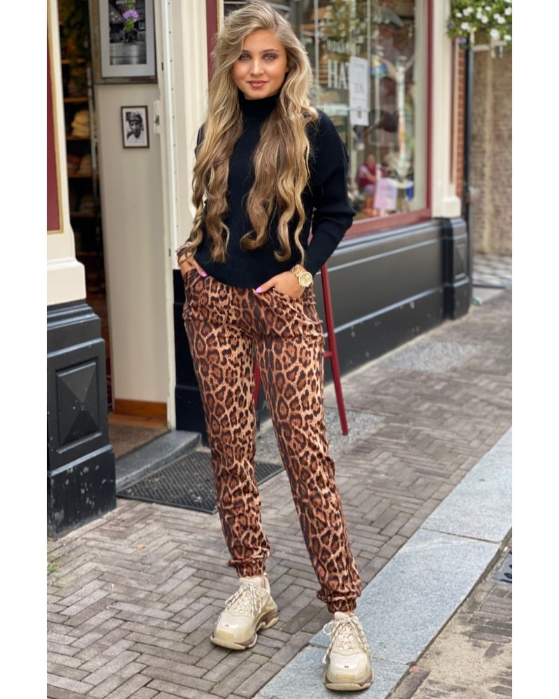 Brooke Leopard Pants - Brown