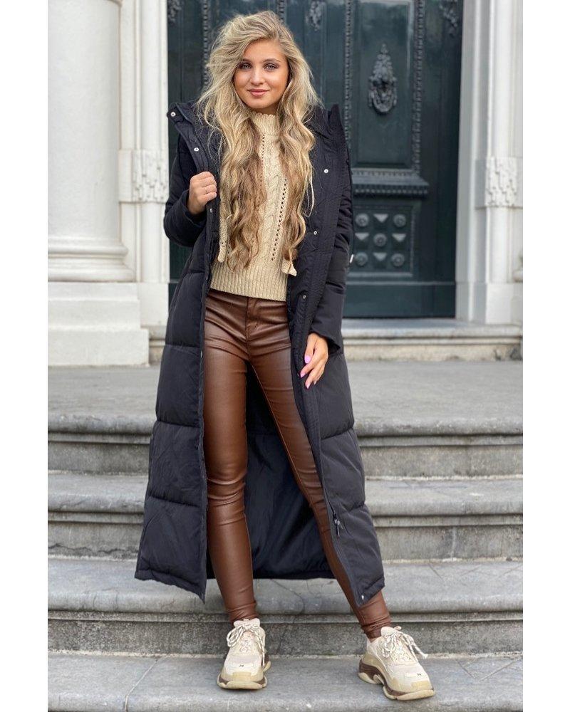 Dewi Coat Long - Black