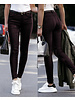Musthave Leather Look Pants  - Bordeaux