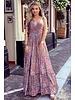 Chayenne Maxi Dress - Lilac / Peach / Turquoise