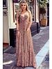 Chayenne Maxi Dress - Pink / Grey / Green