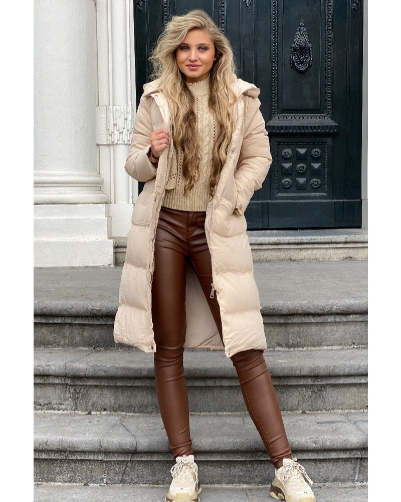 Vivienne Coat Midi - Beige