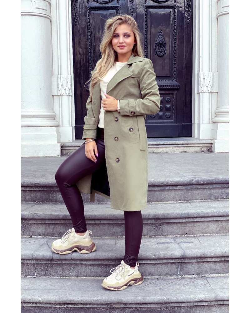 Charlotte Trenchcoat - Army Green