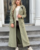 Charlotte Trenchcoat Long - Army Green
