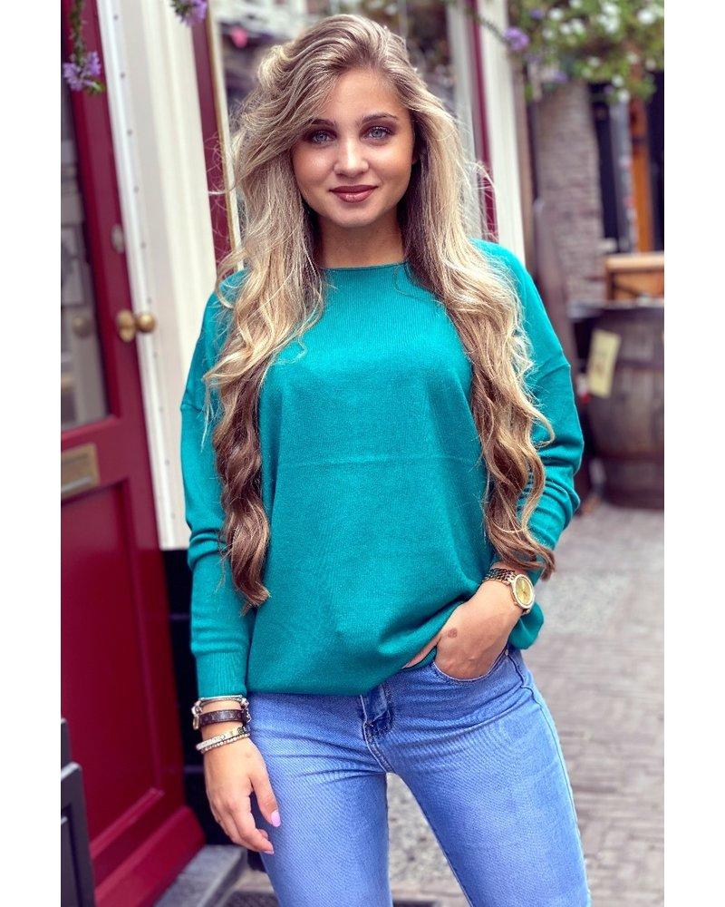 Comfy Basic Sweater - Green