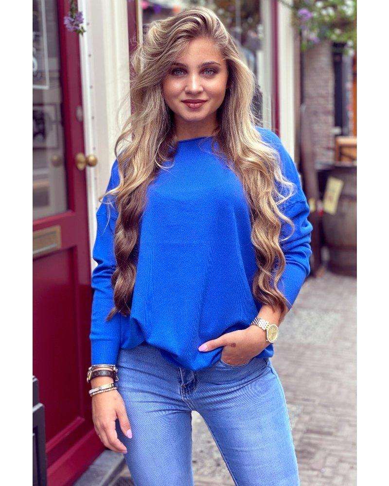 Comfy Basic Sweater - Kobalt