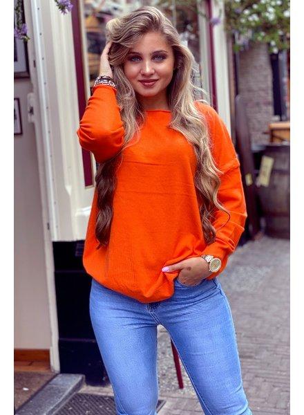 Comfy Basic Sweater - Orange