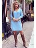 Comfy Sweater Dress - Light Blue