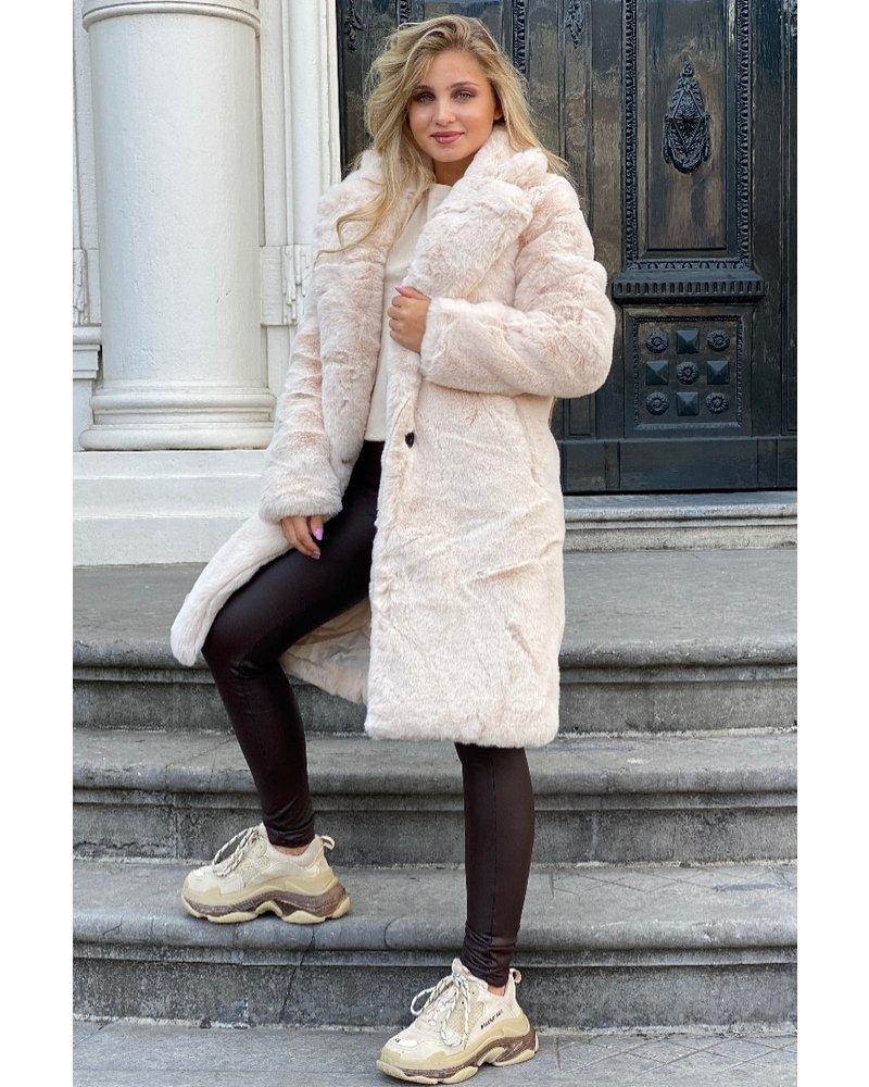 Fabienne Fake Fur Coat - Beige