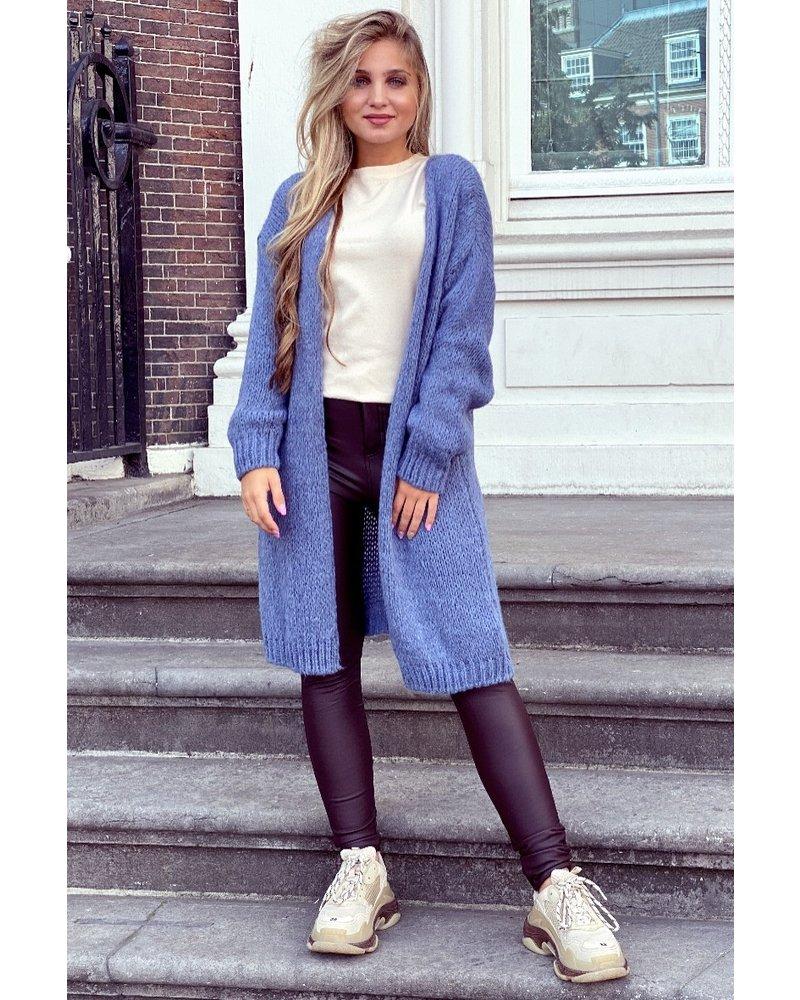 Comfy Knitted Vest - Denim Blue