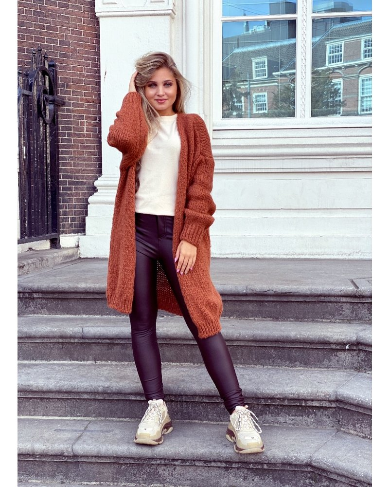 Comfy Knitted Vest - Rusty