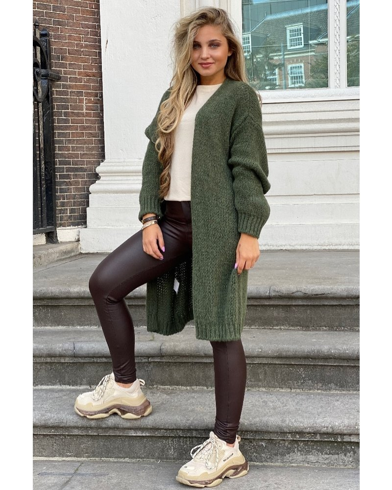 Comfy Knitted Vest - Army Green