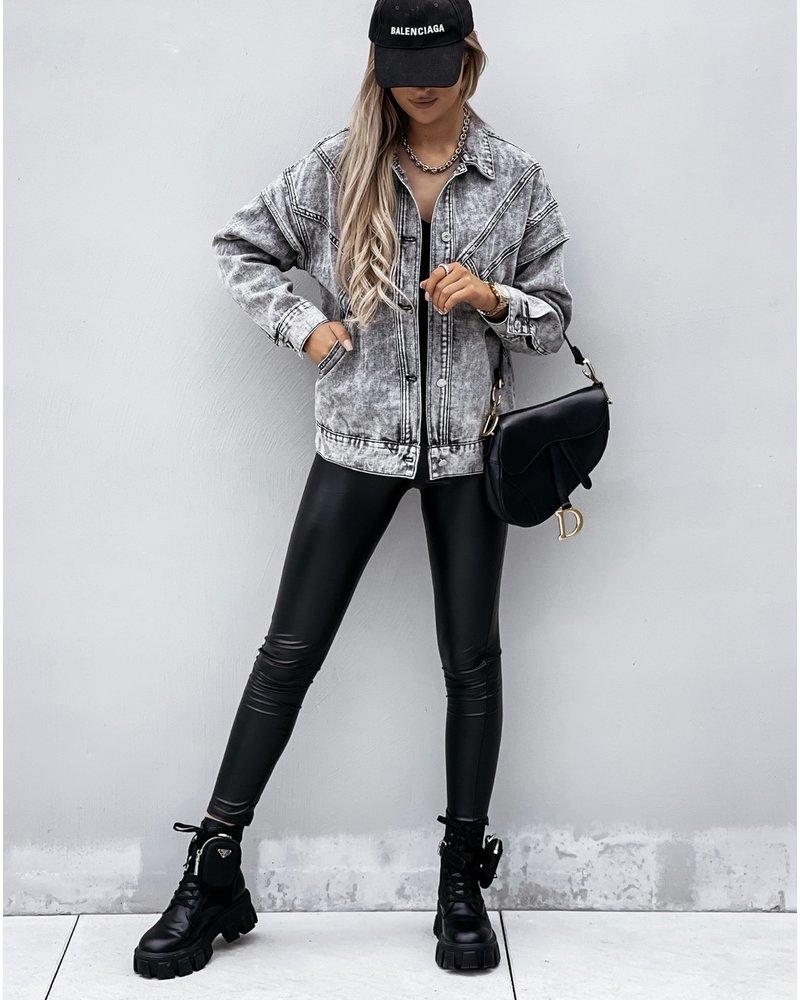 Isabel Denim Jacket - Grey